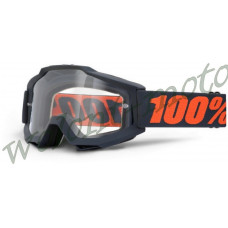 Очки 100% Accuri Gunmetal / Clear Lens   1  (50200-025-02)
