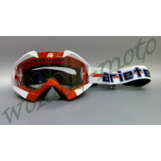 Маска кроссовая   Красно белый Ariete  MX GOGGLES RIDING CROWS ATHLETE UNION JACK 13950-TUK