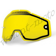 Линза 100% Dual Pane Lens Anti-Fog Yellow  100%  Racecraft/Accuri/Strata  (51006-004-02)