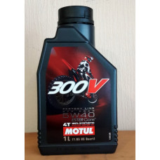 Моторное масло Motul 300V (5w40) 100%Synthetic (1 литр)