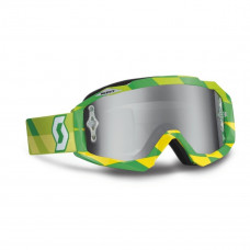 Очки SCOTT Hustle MX track green/yellow/silver chrome works c зеркальной линзой 237588-4606269