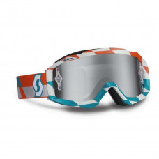 Очки SCOTT Hustle MX track orange/blue/silver chrome works c зеркальной линзой 237588-4607269