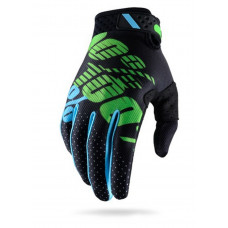 Перчатки 100% Ridefit Glove Black/Lime M (10001-077-11)