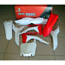 Комплект пластика R-Tech Honda CRF250R 14-17, CRF450R 13-16 (R-KITCRF-OEM-517) красный-белый