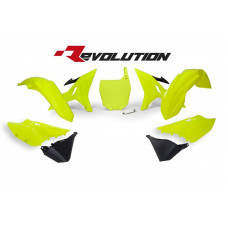 Комплект пластика R-Tech Yamaha YZ125/250 02-18 (R-KITYZ0-GF0-REV) REVOLUTION неоновый желтый/черный