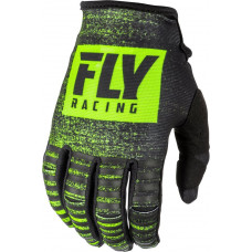 Перчатки FLY RACING KINETIC NOIZ размер:XL(11) черные/Hi-Vis желтые