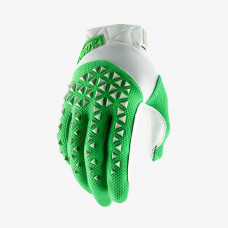 Перчатки 100% Airmatic Glove Silver/Fluo Lime размер:L (10012-265-12)