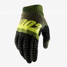 Перчатки 100% Ridefit Glove Army Green/ Fluo Lime/Fatigue размер:L (10014-266-12)