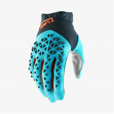 Перчатки 100% Airmatic Glove Steel Grey/Ice Blue/Bronze размер:S (10012-264-10)