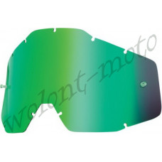 Линза 100% Anti-Fog  Green Mirror 100%  Racecraft/Accuri/Strata   (51002-005-02)