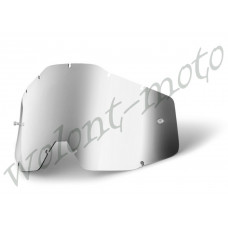 Линза 100% Anti-Fog  Silver Mirror 100%  Racecraft/Accuri/Strata   (51002-008-02)