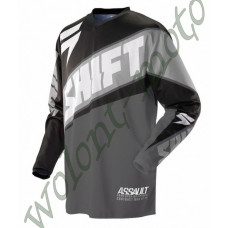 Джерси Shift M Черно серый Shift Assault Race Jersey 07244-014-M