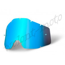 Линза 100%  Anti-Fog Blue Mirror   100% Racecraft/Accuri/Strata 51002-002-02