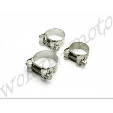 Хомут глушителя DRC  36-39mm D31-32-360 Stainless Exhaust Clamp