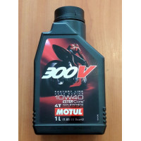 Моторное масло Motul 300V (10w40) 100%Synthetic (1 литр)