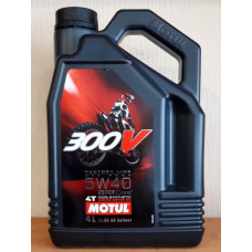 Моторное масло Motul 300V (5w40) 100%Synthetic (4 литра)