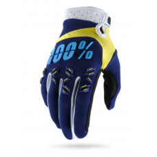 Перчатки 100% Airmatic Glove Navy/Yellow размер:XL (10004-072-13)