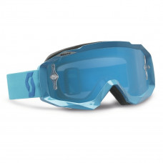 Очки SCOTT Hustle MX blue/electric blue chrome works  c зеркальной линзой  237588-0003278