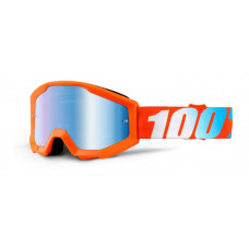 Очки подростковые 100% Strata JR Orange / Mirror Blue Lens (50510-006-02)
