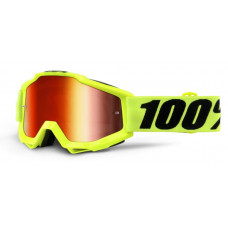 Очки 100% Accuri Fluo Yellow / Red Mirror Lens (50210-004-02)