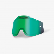 Линза 100% Racecraft/Accuri/Strata Vented Dual Pane Lens Anti-Fog Green Mirror (51006-005-02)