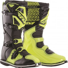 Мотоботы FLY RACING MAVERIK MX размер:44,5 (10) черные/Hi-Vis желтые