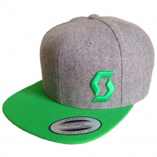 Кепка Scott Cap Promo 20 heather grey/classic green one size 240415-4945222