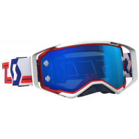 Очки Scott Goggle Prospect red/white / electric blue chrome works 262589-1005278