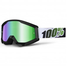 Очки 100% Strata Black Lime / Mirror Green Lens (50410-027-02)