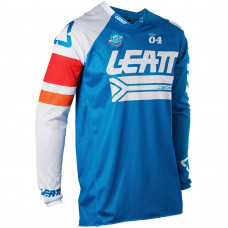 Джерси Leatt GPX 4.5 X-Flow Blue/White размер:L (5018700232)