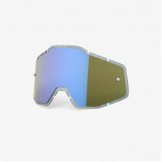 Линза 100% Racecraft/Accuri/Strata Anti-Fog Injected Blue Mirror / Smoke (51004-022-02)