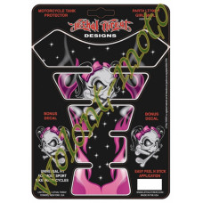 Наклейка на бак LETHAL THREAT GIRL SKULL LT70017