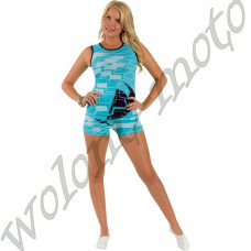 ПИЖАМА ЖЕНСКАЯ PJ S14W DISCO SHORT TEAL M M   3070-0797